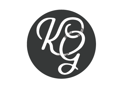 Logo mark initials K, G,