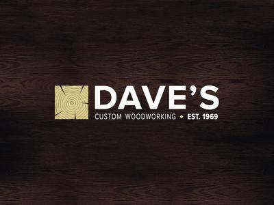 Daves Custom Woodworking Logo woodworking logo branding