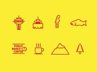 Seattle Themed Icons
