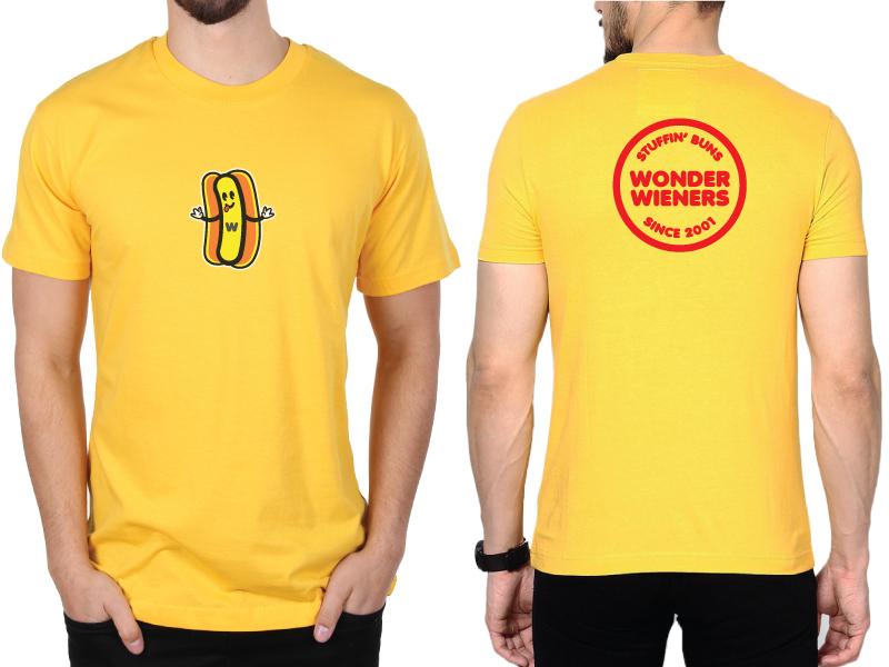 Wonder Wieners Retail T-shirt mockup