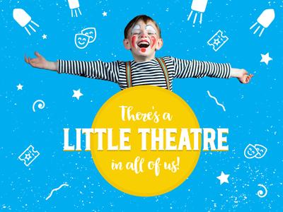 Springfield Little Theatre ad illustration child theatre