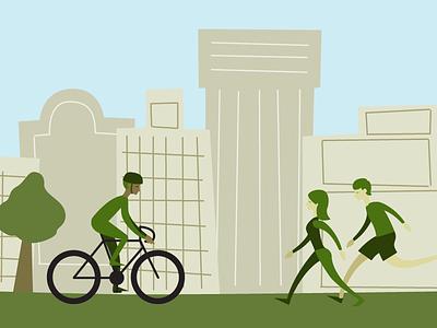 Greenway Illustration trails greenway bike illustration