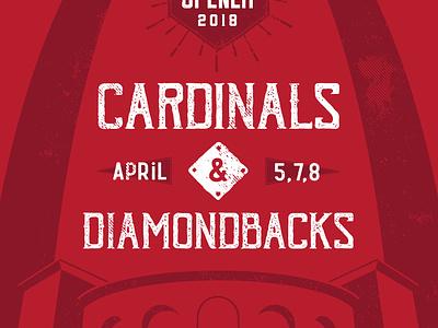 Cardinals Dbacks Poster April busch stadium diamond backs mlb st. louis cardinals baseball