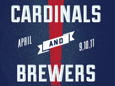 Cardinals Brewers Poster April