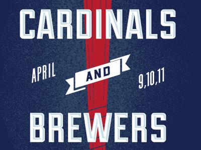 Cardinals Brewers Poster April