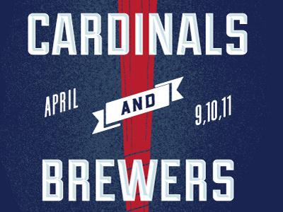 Cardinals Brewers Poster April brewcrew milwaukee brewers mlb st. louis cardinals baseball