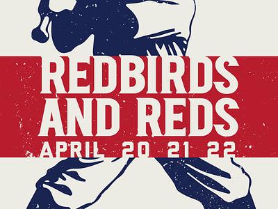 Cardinals Reds Poster April reds mlb st. louis cardinals baseball
