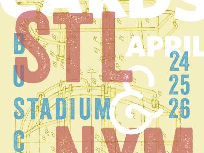 Cardinals Mets Poster April