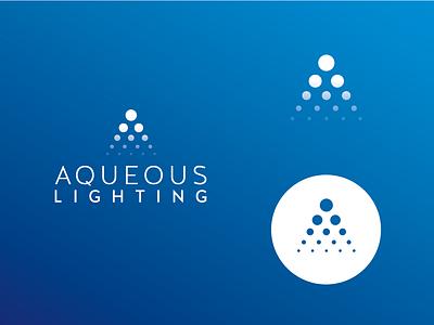 Aqueous Lighting Logo minimal lighting logo