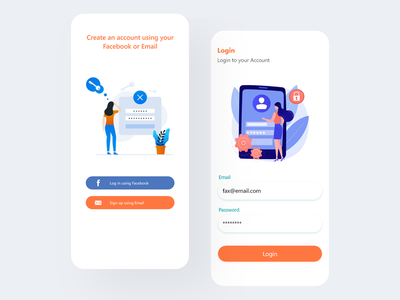 Login, Signup Concept ui-ux-design mobile-ux-design mobile-ui-design ux-design ui-design uiux mobile-signup-ui mobile-login-ui signup-ui login-ui signup login