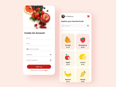 On Demand Fruit App fruits-store-app delivery-service grocery-app online-grocery-store design-grocery design-app design-ui ux ui design-fruitsartclub colors-clean clean-ui