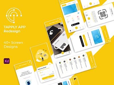 Tapply App UI/UX Redesign app-ui mobile-app-design app-design tapply-app-ui tapply-ui app-redesign redesign ux-design ui-design ui-ux tapply-app app