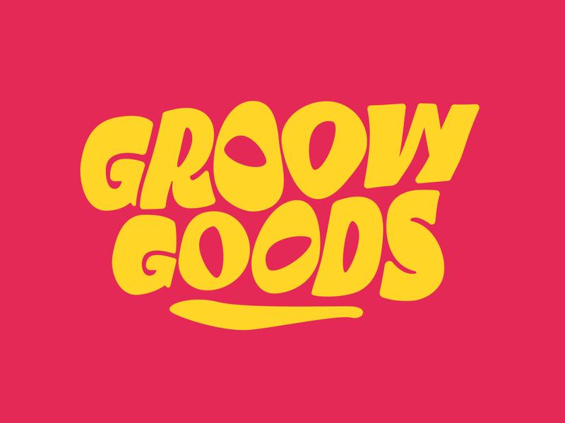 Groovy Goods type design typeface logo brand design font custom type lettering art direction typography branding