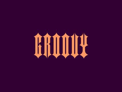 Groovy Custom Type font font design lettering custom lettering customtype vector design illustration logo art direction typography branding