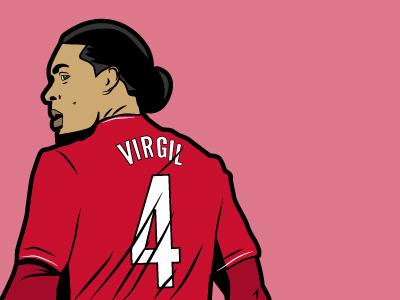 Virgil illustration liverpool fc