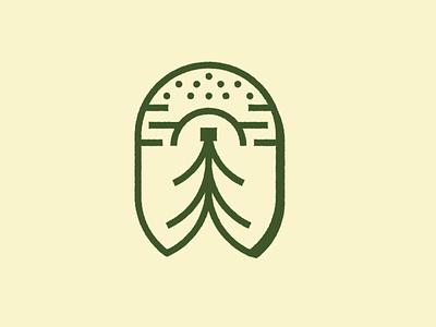Savvy Co. brandmark logo restaurant bottle shop campy adventure branding badge