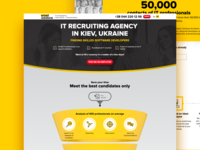 Recruitment agency for IT – Landing Page
