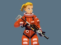 Starship Marine girl