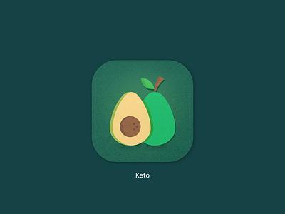 App Icon Daily UI ui design healthy keto diet diet keto daily ui dailyui icon design icon app ui