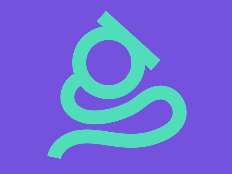 "The letter ""g"" graphic design design purple green g 36daysoftype07 36daysoftype graphicdesign graphic designer illustration illustrator font lettering typography type letter"