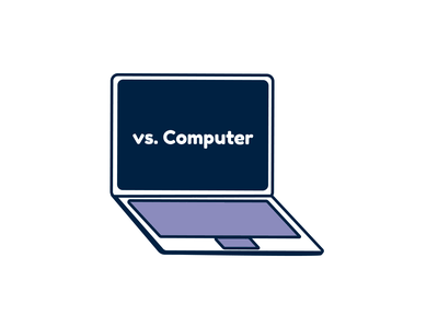 Computer computer vector illustration
