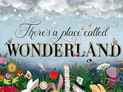 There's A Place Called Wonderland lettering artist lettering art whimsical procreateapp affinitydesigner illustrtion characterart digitalartwork breadandbutterfly doormouse tweedledum tweedledee marchhare whiterzbbit cheshirecat madhatter alice aliceinwonderland theresaplacecalledwonderland wonderland