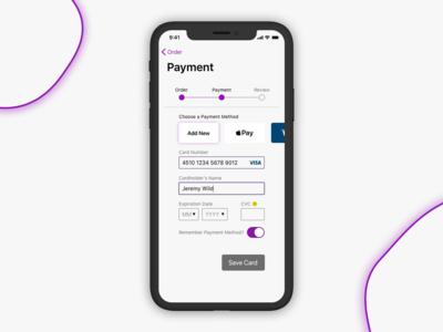 Checkout Screen - DailyUI 002 design ui payment checkout ios 002 dailyui dailyui002