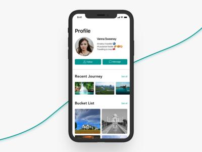 Profile Screen - DailyUI 006