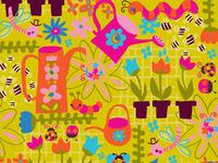 Happy spring pattern 600