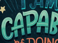 capable lettering