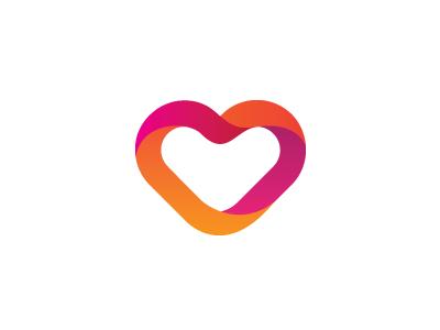 Papeterie Haute Ville Sign logo heart ribbons volume gradient