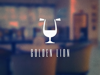 Golden Lion bar cafe lion snifter logo logotype glass
