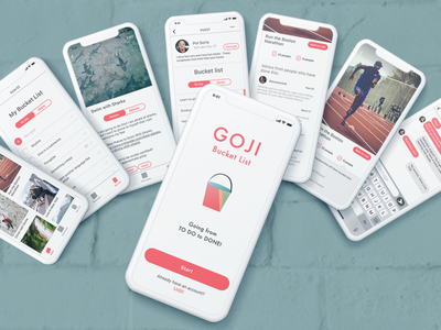 Goji - Bucket list app UI