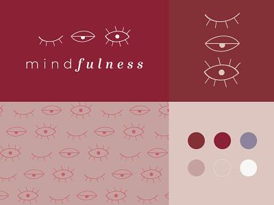 Mindfulness 👁️ minimalist logo mindfulness meditating eyes minimal logo illustrator illustration design branding