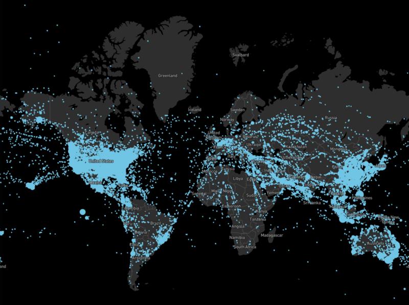 Complex Mapbox data visualization maps dataviz map mapbox
