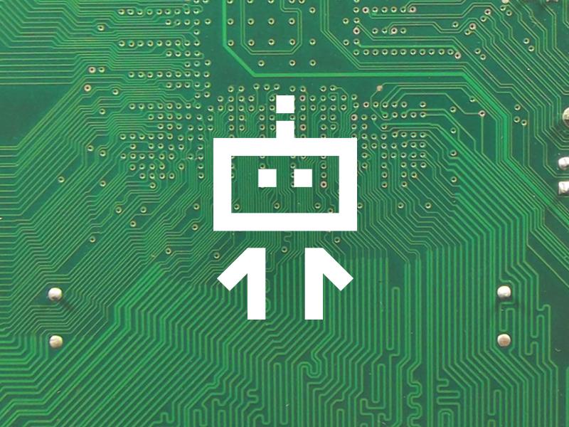 Mark for robotics kit developer mark brand logo robot line circuit dex