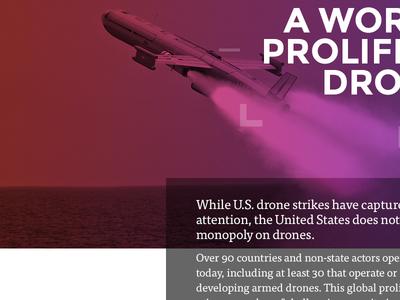 Drones drones gradient tisa montserrat ux ui web