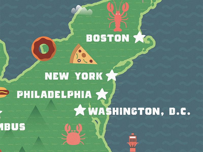 WIP Food Map by Michael Aleo | Dribbble | Dribbble