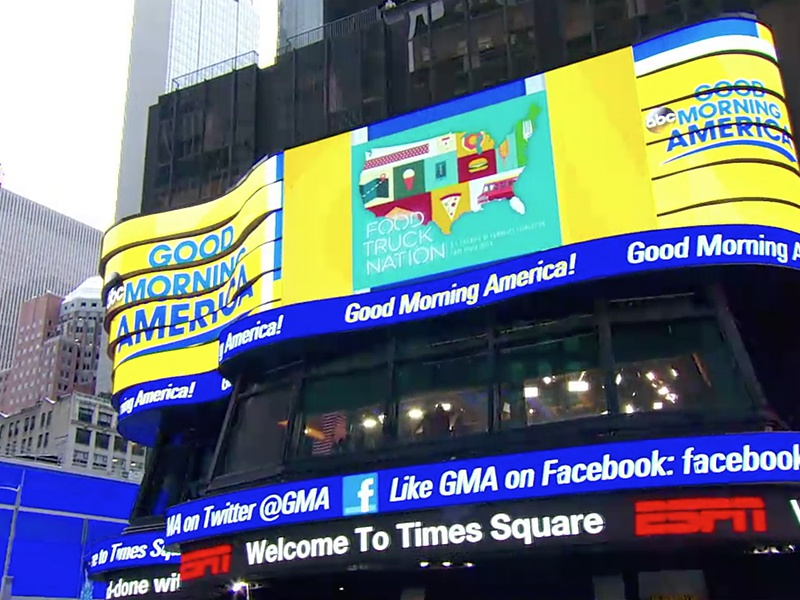 FTN on Good Morning America? Whaaaaaaat. promo food trucks times square new york tv