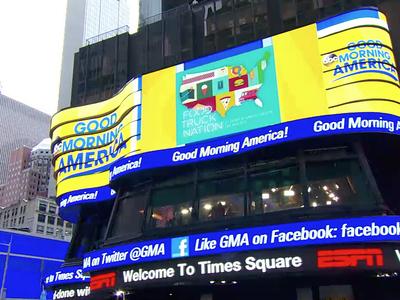 FTN on Good Morning America? Whaaaaaaat. promo food trucks times square new york tv