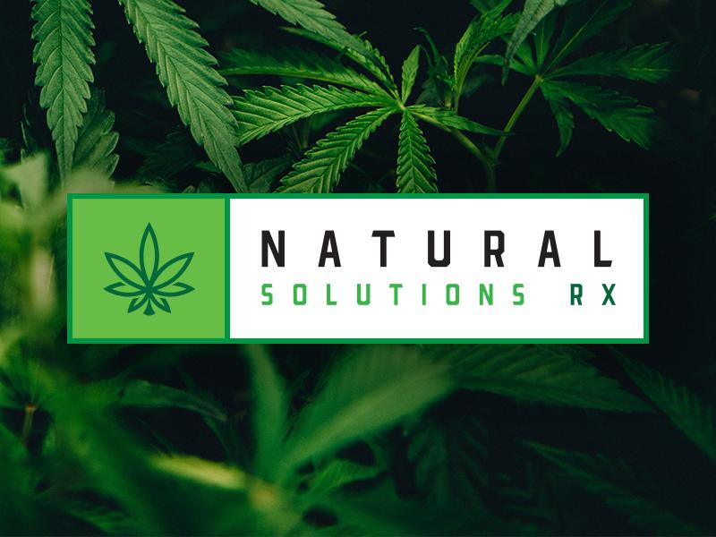 Natural Solutions maryland weed icon typography branding vector brand logo marijuana