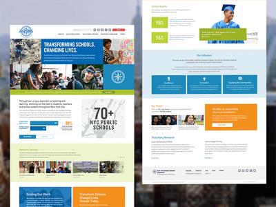 NYC Outward Bound Schools nonprofit school nyc homepage website ux web ui