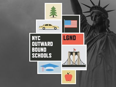 NYC Outward Bound Schools Badge education logo branding brand nyc new york city badge school schools