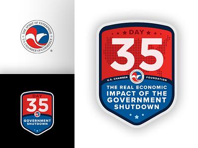U.S. Chamber of Commerce Foundation Shutdown Badge illustrator illustration brand chamber of commerce shutdown politics government washington dc usa logo badge
