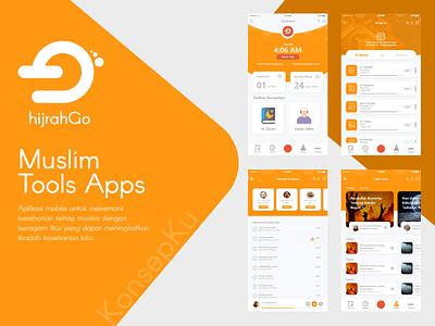 Muslim Tools App religion remider music player ui  ux design branding app logo ui
