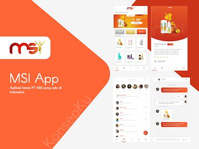 MSI App company app bussiness design app ui  ux design ui