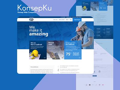 Caddraft - Konsep Website Company Profile web company web design branding ui