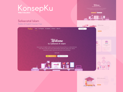 Safeeratal Islam - Web Education Design web online courses web design education web design web design ui