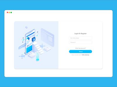 Login Page vector company app design ui  ux design ui