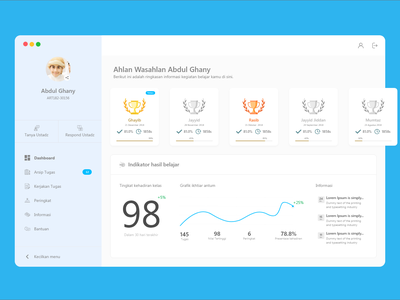 Dashboard Education Web App religion app web ui  ux design design ui